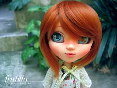 Frutilla - my first custom! (porotto ) Tags: red hair doll ooak redhead wig carrot pullip freckles custom faceup leeke