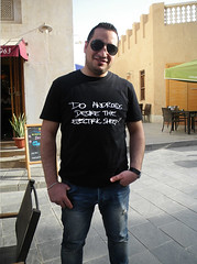 Do Andoids Desire the Electric Sheep? (Kombizz) Tags: sexy sunglasses fashion electric funny message sheep jean joke middleeast tshirt desire egyptian worker guest foreign sarcasm doha qatar sarcastic persiangulf electricsheep foreignworker khalijfars guestworker 4464 sexymessage kombizz andoids happyslave doandoidsdesiretheelectricsheep khaleejfars