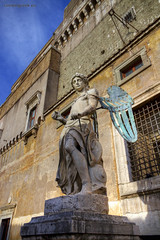 "Castel Sant'Angelo, Archangel Michael (Raffaello da Montelupo) • <a style=""font-size:0.8em;"" href=""http://www.flickr.com/photos/89679026@N00/7098480565/"" target=""_blank"">View on Flickr</a>"