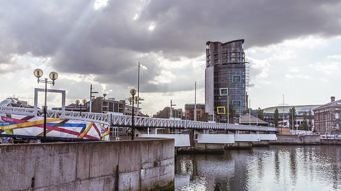The Lagan Weir - Belfast (The Boat Tower At The Right Hand Side)