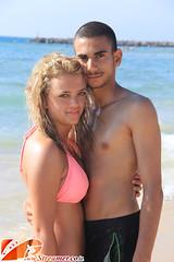 IMG_5571 (Streamer -  ) Tags: ocean blue girls sea two hot sexy beach boys water up hair israel model eyes sand clean yam teen bikini bags  tanned  streamer   grabage   ashkelon              ashqelon   tzalam