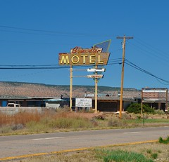 Bluewater-Glamour Shot (pam's pics-) Tags: usa newmexico southwest west america hotel us route66 closed lodging motel roadside nm outofbusiness motorinn vintagesign abadoned motorlodge motorcourt pammorris pamspics bluewaternewmexico bluewatermotel april2012roadtrip