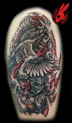Phoenix Tattoo byJackie Rabbit (Jackie rabbit Tattoos) Tags: city bird phoenix tattoo asian fire japanese star virginia cool colorful good awesome flames great chinese roanoke va oriental jackierabbit