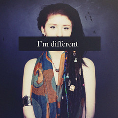 Different (andreannelupien) Tags: texture girl cat studio eyes different quote style piercing quotes dread concept conceptual dreads hairstyle censure censured