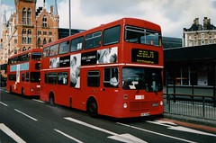 LEASIDE M509 GYE509W KINGS CROSS 110597 (David Beardmore) Tags: gye509w m509 mcw metrocammellweymann metrobus londontransport lt leasidebuses leaside doubledeckerbus