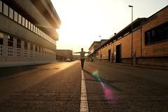 L'alba della zona industriale (camilla.saccardi) Tags: street light boy strada industrial forza area di luce linea ragazzo