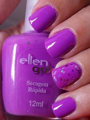 Linda - Ellen Gold + Rain - D'lu (Natalia Breda) Tags: glitter roxo lilás dlu ellengold esmaltequemudadecor esmaltenacional