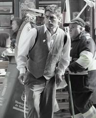 Chinchinero en Santiago (Rodriguezped) Tags: santiago blancoynegro persona hombre tradición chinchinero
