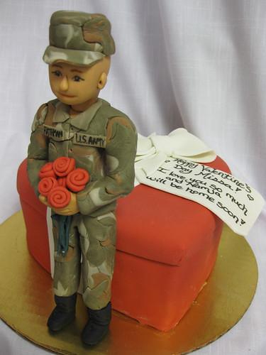 Army Valentine cake