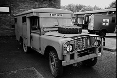 CNV00035_DxOFP (Paul Wynn Photography) Tags: film army scotland jeep military motorcycles guns trucks ilfordxp2 landrover tanker irvine vintagemilitary scanedfilm 50calgun transportreg 251sqd
