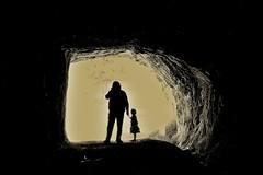 Caverna Benavides- Lebu (Paola661) Tags: tunel cueva blanconegro umbral padreehija