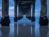 Manhattan Pier (MGRX100) Tags: ocean longexposure beach pier olympus bluehour manhattanpier pierpressure olympusinspired