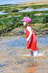 Wait For Me (karllaundon) Tags: family sea summer sun cute beach fun happy seaside day child laugh northeast rockpool redcar