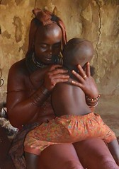 Himba mother and her little girl (TravelEatPlayDo) Tags: africa travel culture adventure namibia himba