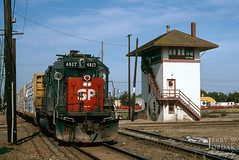A Vacation from Snow (jwjordak) Tags: gp382 sp tower 4817 southernpacific train stockton california unitedstates us