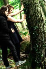 Ronja und Dennis 3 (tanja jooonsen) Tags: paar people love harmonie harmony outdoor sweet forrest liebe kuss kiss twoesome lovers pair couple smile