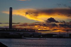 Fawley Power Station Sunset (David Blandford photography) Tags: sunset fawley power station calshot calshotbeach hampshire
