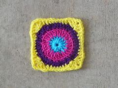 Square 57 (crochetbug13) Tags: crochet square57 crocheted crocheting crochetbug 101crochetsquares jeanleinhauser leinhauser grannysquare
