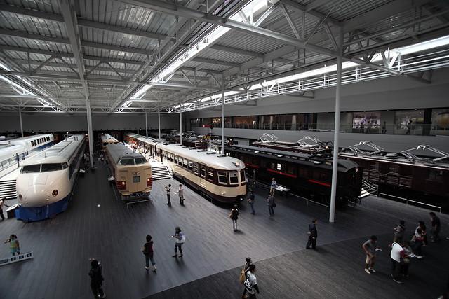 [リニア・鉄道館] 2Fから。在来線車両など