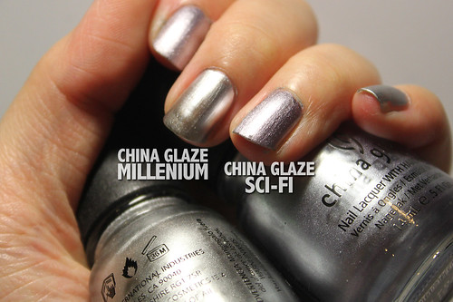 China Glaze Sci-Fi vs Millenium (2/2)