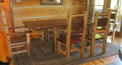 Farm Table Chairs and bench bfw