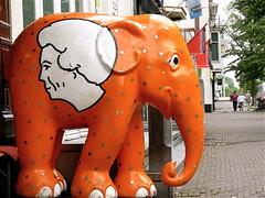 The royal elephant (Akbar Sim) Tags: holland netherlands nederland denhaag beatrix thehague herengracht olifant florijn akbarsimonse raymondhoogendorp koninklijkeolifant oranjeolifant akbarsim