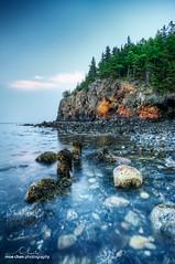 Owl's Head (moe chen) Tags: ocean sea lighthouse seascape seaweed tree green me landscape glow head maine sigma moe 1020mm owls chen barnacle rockland