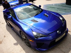LFA (BenGPhotos) Tags: blue car explore wharf canary supercar lfa v10 lexus 2011 explored leus motorexpo worldcars