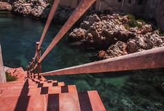 Sant' Elia (Rcri) Tags: scale water rock stairs stair sicily palermo rocce acqua sant sicilia elia prospettiva scogli prospective