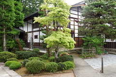 20140516-26-One of the Higashiyama temples.jpg (Roger T Wong) Tags: travel trees green leaves japan river stonework takayama 2014 canon24105f4lis canonef24105mmf4lisusm sonyalpha7 sonya7 rogertwong