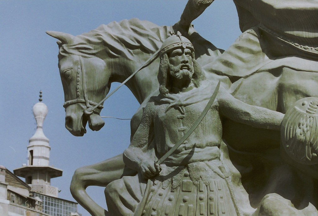 59facc6e1cd Salah ad Din memorial, Damascus (jpotto) Tags: statue buildings syria  damascus saladin