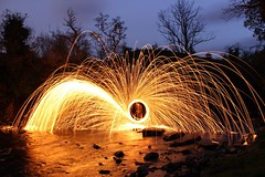 First photo (allinsonwill) Tags: longexposure water composition river landscape photography cool exposure spin steppingstones sparks exposed firstphoto waterscape wirewool