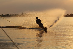 Mark slalomski (NLHank) Tags: canon eos 7d 70200 wanneperveen belter watersport stille 2014 monoski slalomski waterskibaan eos7d