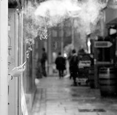smoking in the rain (MJMPHOTOS.IE) Tags: streetphotography bnw blackandwhite smoke cigs martinjmurphy martinjmurphyphotography dublin ireland 24105mm 5dm3 dublinstreetphotography templebar blackandwhitestreetcommg people girl smoking smoker candid 2470 blackandwhitestreetfb blackandwhitestreetmg publishedwestreet2015 instagram11417