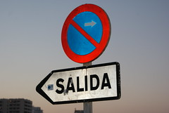DSC00081 (PHOENlX PHOTOGRAPHY) Tags: road sunset sign spain salida exit