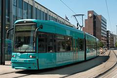 Frankfurt am Main RMV Flexity Classic tram 235 at Willy-Brandt-Platz on 24 June 2014 (A Scotson) Tags: tram tramway frankfurtammain bombardier rmv gernany lowfloor localtransport flexityclassic rheinmainverkehrsverbund