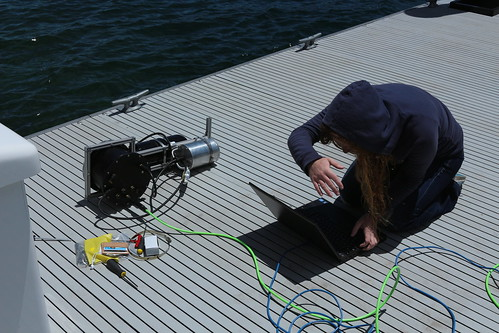 Antonella debugging the stereo rig