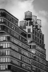 Water Towers (HubbleColor {Zolt}) Tags: travel urban bw newyork blackwhite unitedstates watertower fieldtrip highline bccc