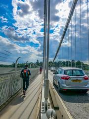 Split Screen . The River Avon and Brunel's Clifton Suspension Bridge (Le monde d'aujourd'hui) Tags: summer river bristol lonely lowtide suspensionbridge clifton cliftonsuspensionbridge splitscreen brunel riveravon