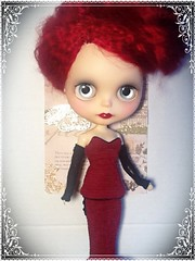 """Blythe-a-Day July 2014#20:Favorite Beatles Song:Narcissa Rose """"standing there"""""""