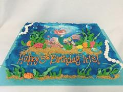 Little Mermaid Sheet Cake (tasteoflovebakery) Tags: little mermaid sheet cake birthday ariel