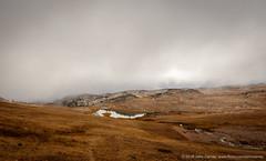 frozen lake (johncarney) Tags: america beartoothhighway clouds frozenlake lake mist montana mt unitedstates usa
