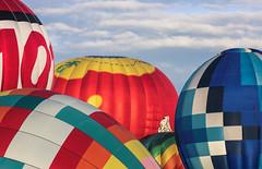from her bedroom window (Karol Franks) Tags: 2016 balloon fiesta albuquerque newmexico usa roadtrip hotair colorful sky clouds morning view ©karolfranks okarolyahoocom