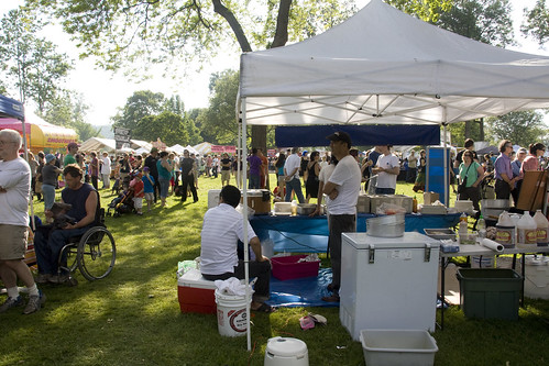 Sunday's Ithaca Festival activities at Stewart Park