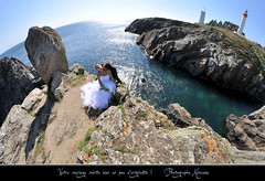 Kimcass Photographe de mariage sur Brest (kimcass) Tags: wedding mer landscape landscapes bretagne fisheye brest mariage dolmen finistre stmathieu marie abbye kimcass