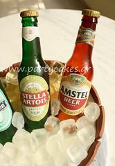 Beer bottle cake for my husband :) (Party Cakes By Samantha) Tags: stella ice beer cake heineken bucket bottle barrel sugar amstel artois