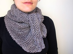 Simple Luxury Scarf - take 2 (One Flew Over...) Tags: triangle knitting charcoal pickles worsted pluckyknitter simpleluxuryscarf