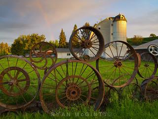 Palouse, Dahmen Barn Rainbow