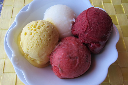 Delicieuse: Assorted Fruit Sorbets