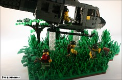 """""""Sympathy for the Devil"""" (The Expendable) Tags: morning love for lego forrest son we vietnam huey helicopter smell devil soldiers gump were napalm sympathy fortunate the in vietcong i of brickarms vietfrickingnam"""
